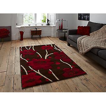 فيرونا 216 براون-الأحمر البنى والأحمر المستطيل السجاد السجاد الحديثة