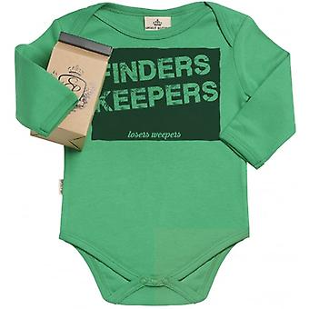 Spoilt Rotten Finders Keepers Organic Baby Grow In Gift Milk Carton
