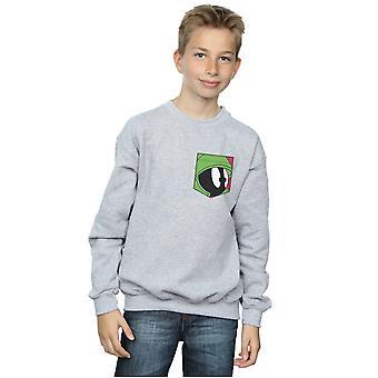 Looney Tunes garçons Marvin le visage martien fausse poche Sweatshirt