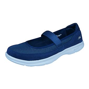 Skechers Go étape Snap Womens marche formateurs / Mary Janes - marine