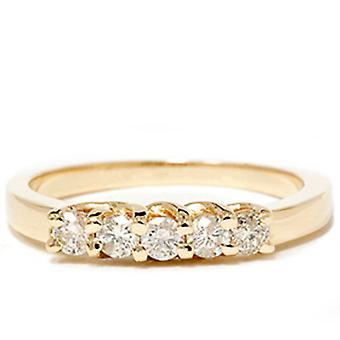 Gelb 1 / 2ct 14 K Diamond Guard Eheringe aus Gold neu
