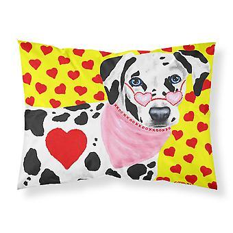 Hearts and Dalmatian Fabric Standard Pillowcase
