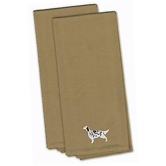 Seter angielski Tan haftowane zestaw Ręcznik kuchenny 2