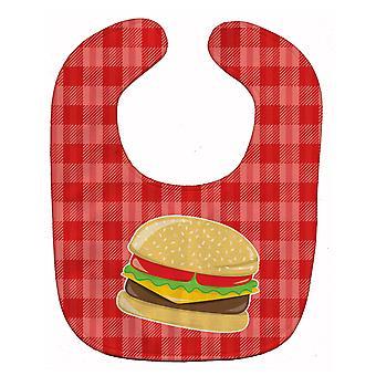 Каролинских сокровища BB6812BIB гамбургер плед ребенок нагрудник