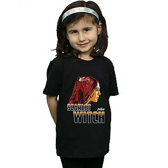 Marvel jenter Avengers uendelig krig Scarlet heks karakter t-skjorte
