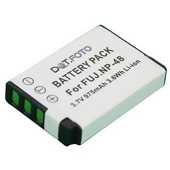 Dot.Foto Fujifilm NP-48 udskiftningsbatteri - 3.6v / 975mAh