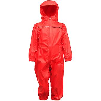 Regatta Kids Paddle Waterproof Breathable Rain Suit TRW466 Red