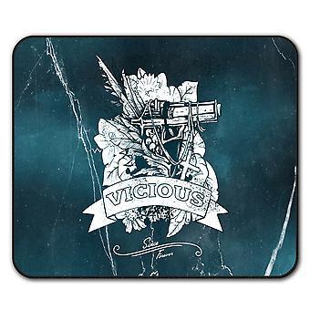 Vicious Cool Gun  Non-Slip Mouse Mat Pad 24cm x 20cm | Wellcoda