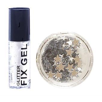 Stargazer fix gel lipici + argint sclipici stele