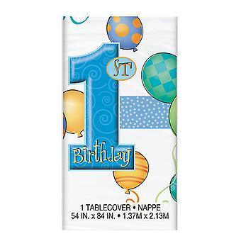 Første bursdag blå tabell cover