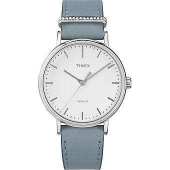 Timex Damenuhr Fairfield Crystal 37mm Leder Armband TW2R70300