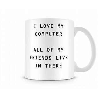 Vrienden Computer bedrukte mok