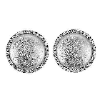 Orphelia Silver 925 Earring Glass Silver Sheet Zirconium  ZO-5201