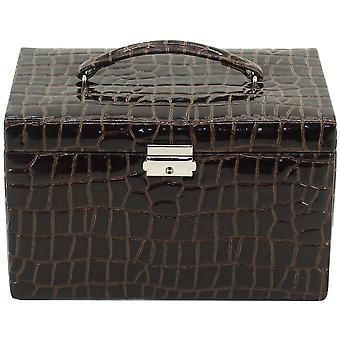 Friedrich leather jewelry case jewelry box JOLIE Brown Castle mirror