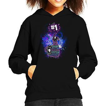 Llama Art Fortnite Kid's Hooded Sweatshirt