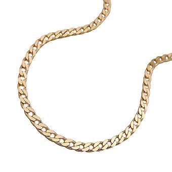 2 mm wide armor 14Kt GOLD flat bracelet 19 cm