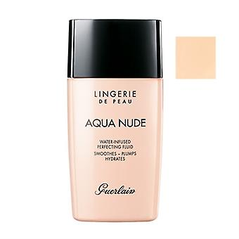 Guerlain Lingerie De Peau Aqua Nude Water-Infused Perfecting Fluid SPF 20 01N Very Light 1.0oz / 30ml