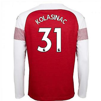 2018-2019 Arsenal Puma Home Long Sleeve Shirt (Kolasinac 31)