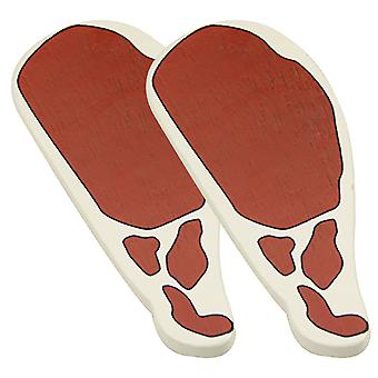 Bigjigs Toys Wooden Play Food Bacon (Pack of 2) Pretend Role Play Kitchen