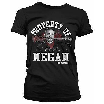 La proprietà di magliette da ragazza morta a piedi di Negan