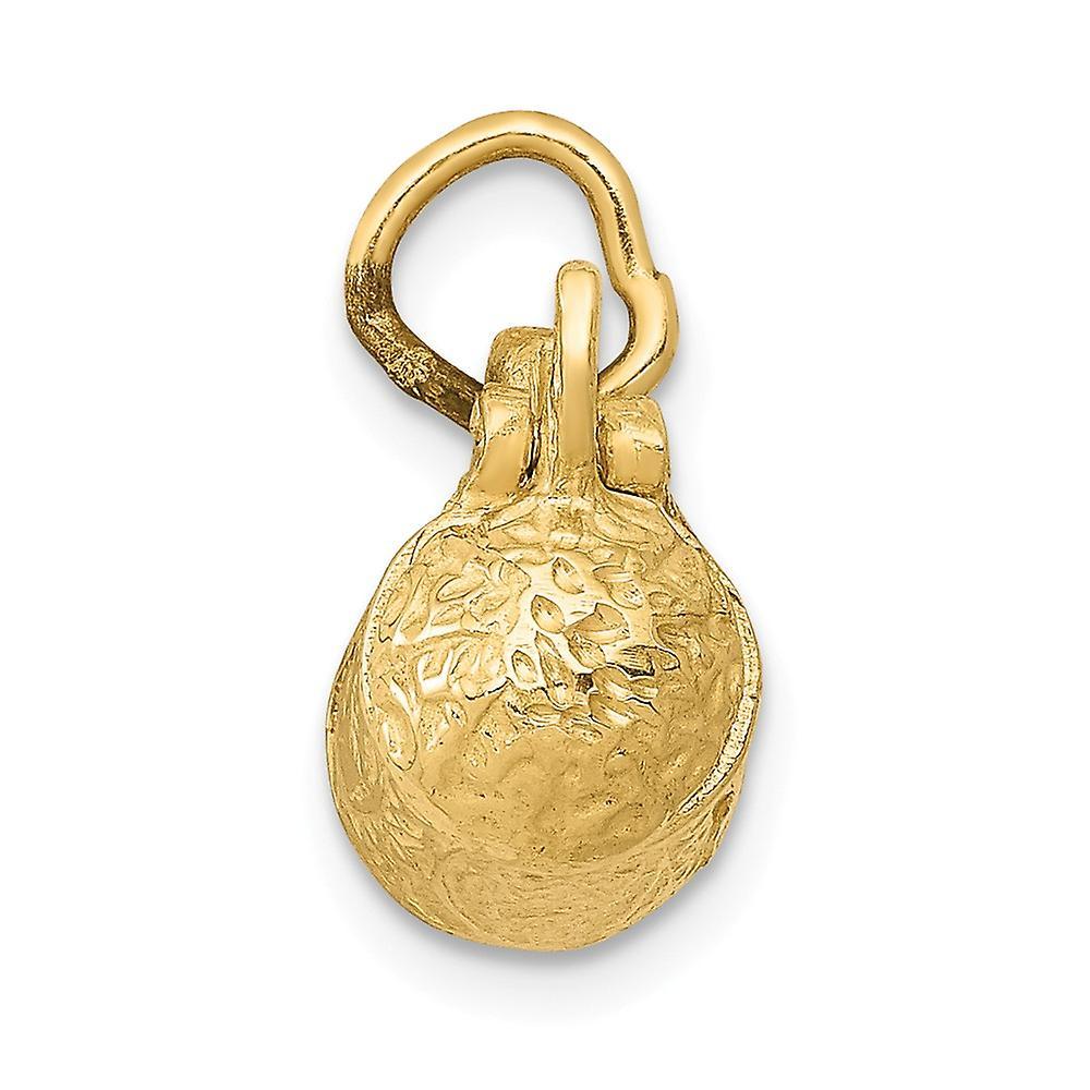 14 k Gelbgold solide poliert 3 D Bier Stein Anhänger Anhänger Halskette Schmuck Geschenke für Frauen