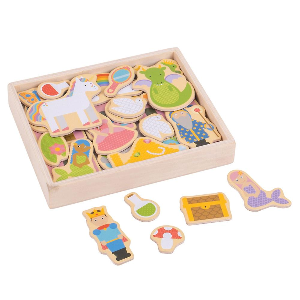 Bigjigs Toys Wooden Educational Fantasy Magnets (35) Story Creative Play