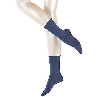 Esprit grundlæggende ren 2 Pack sokker - Navy Melange