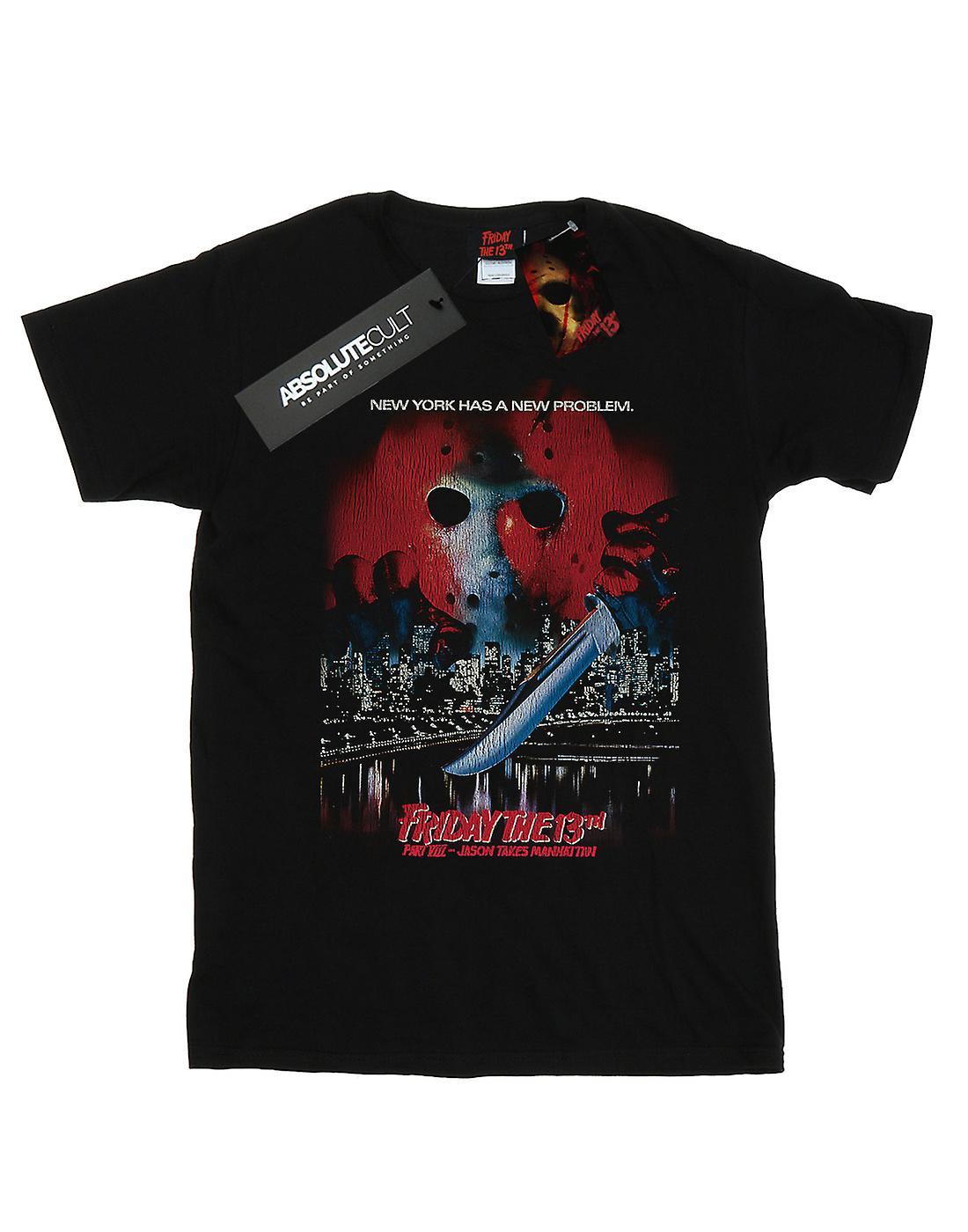 Friday The 13th Women's Jason Takes Manhattan Boyfriend Fit T-Shirt