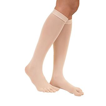 TOETOE Legwear Plain Nylon Knee-High Toe Socks