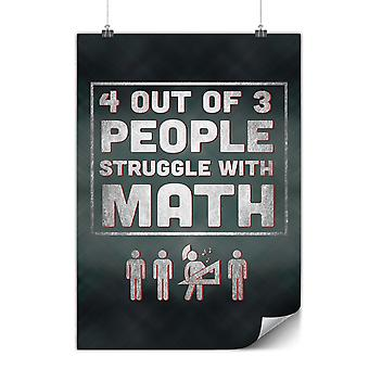 Matte or Glossy Poster with People Struggle | Wellcoda | *y3559