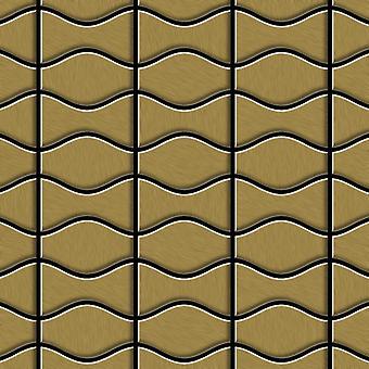 Metal mosaic Titanium ALLOY Kismet-Karma-Ti-GB