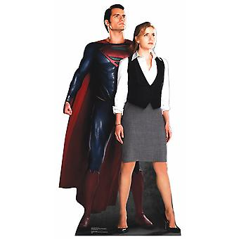 Superman and Lois Lane Lifesize Cardboard Cutout / Standee - Henry Cavill and Amy Adams from Man Of Steel