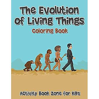 The Evolution of Living Things Coloring Book