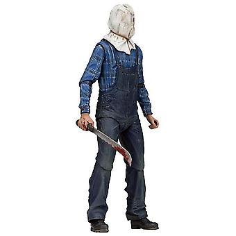 Perjantai 7 13 lopullinen Jason Vorhees osa 2 yksityiskohtainen figuuri-hahmo valmistettu muovista. Valmistaja: NECA.