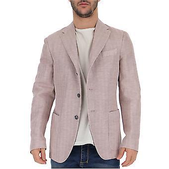 The Gigi Artk6001020 Men's Pink Cotton Blazer