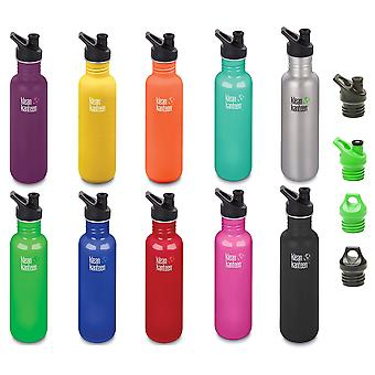 Klean Kanteen Classic 27oz Stainless Steel drinks bottle - New Klean Coat finish