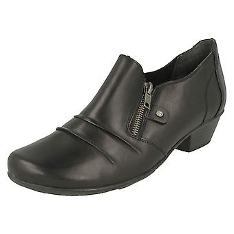 Ladies Remonte Ruffle Detailed Heeled Shoes D7310
