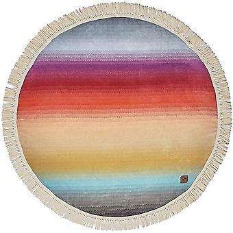 Slowtide Terra Round Beach Towel in Teal