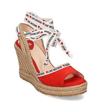 Kjærlighet Moschino Rope Logo JA1633AI07JF0500 universell sommer kvinner sko