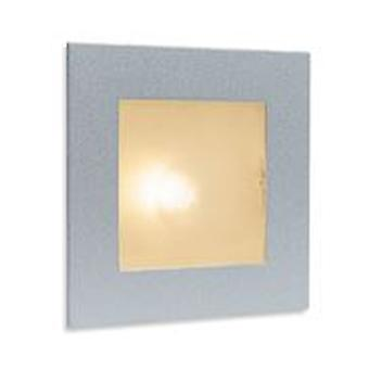 Erstlicht-1 Light Indoor Wall & Step Light Satin Steel, Glascover-1131SS