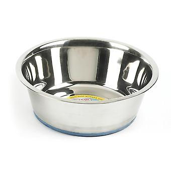 Classic Steel Non-Slip Pet Dish (Pack Of 6)