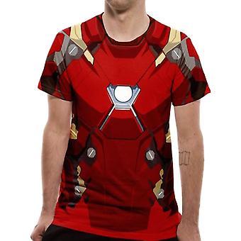 Men's Civil War Iron Man Costume Sublimated T-Shirt