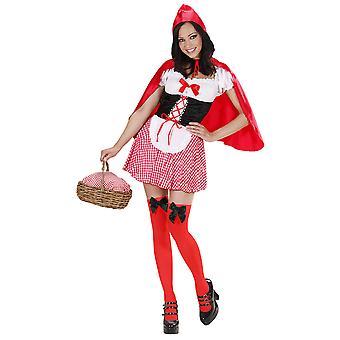 Roter Kapelner (Kleid W/Petticoat Corset Apron Capelet)