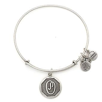 Alex and Ani inicial O Silver Bangle A13EB14OS
