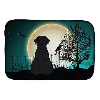 Carolines Treasures  BB2256DDM Halloween Scary Giant Schnauzer Dish Drying Mat