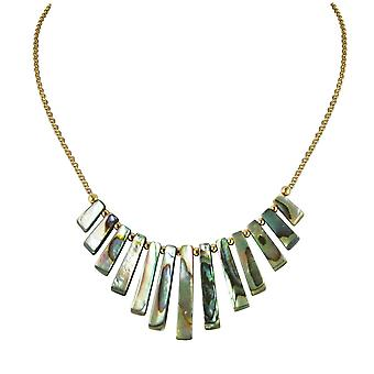 Ewige Sammlung Idaho natürliche Abalone absolvierte Fan 18 Karat Gold Vermeil Halskette