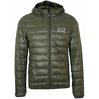 Ea7 Green Down Filled Lightweight Jacket