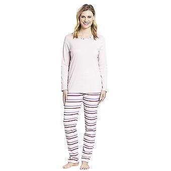Rosch 1193652-11874 Ensemble de pyjama en coton rayé multicolore smart Casual Casual Pour femme