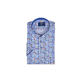 R2 Short Sleeve Shirt Multi Blue Circles