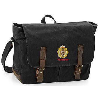 RLC Royal Logistics Corps Veteran - Licensed British Army Embroidered Waxed Canvas Messenger Bag
